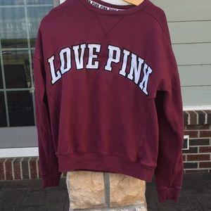 Maroon PINK pullover sweatshirt